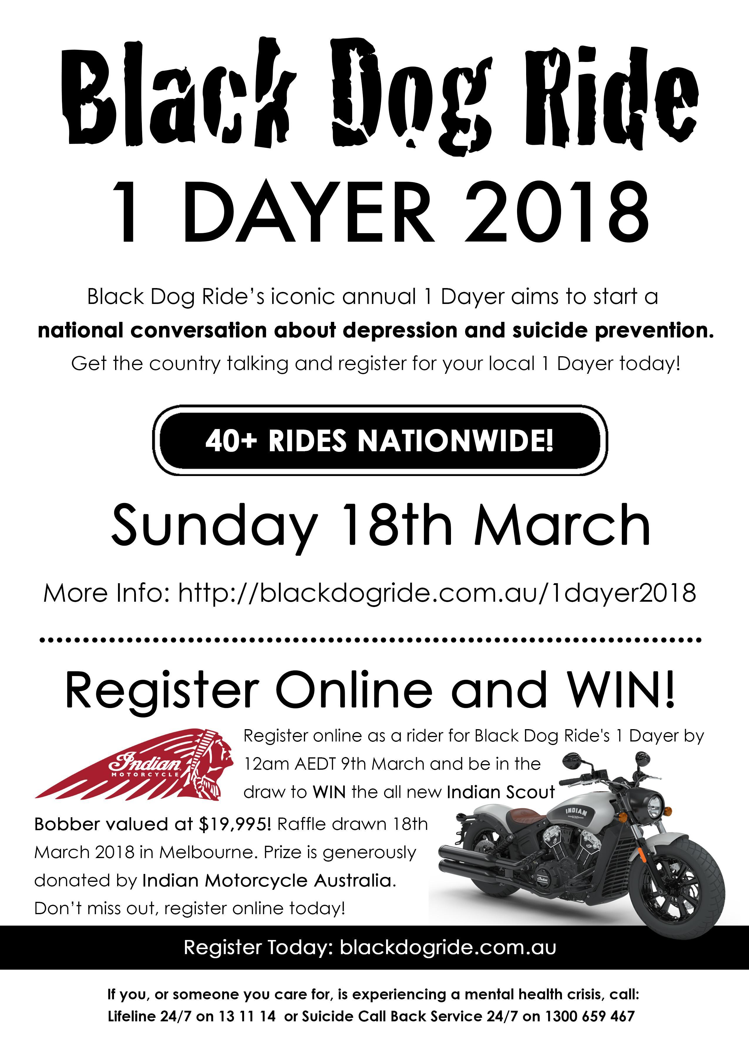 Black Dog Ride Darwin